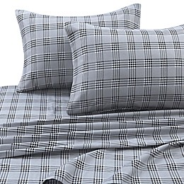Tribeca Living 170 GSM Savanna Plaid Flannel Sheet Set