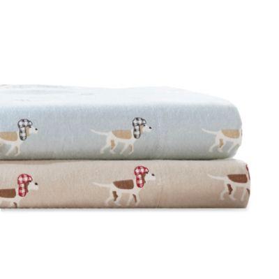 Woolrich Dog Print Cotton Flannel Sheet Set Bed Bath Beyond