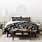 Deny Designs Heather Dutton Feathers Queen Duvet Cover Set in Black