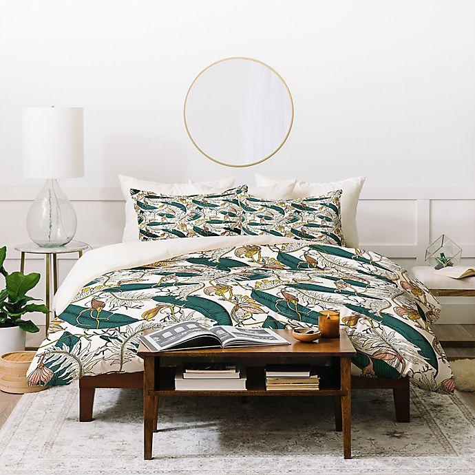 Alternate image 1 for Deny Designs Holli Zollinger Orchid Garden 3-Piece King Duvet Cover Set in Green