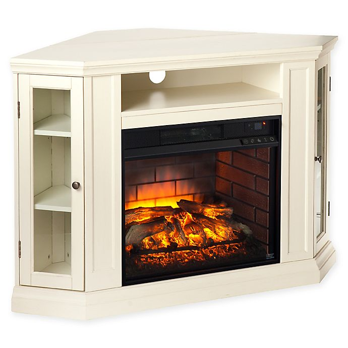 Alternate image 1 for Southern Enterprises Claremont Convertible Media Infrared Electric Fireplace