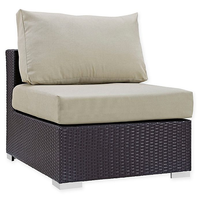 Alternate image 1 for Modway Convene Outdoor Patio Armless Chair in Espresso/Beige