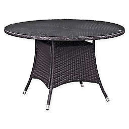 Modway Convene Outdoor Patio Round Dining Table in Espresso