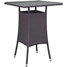 Modway Convene Small Outdoor Patio Bar Table in Espresso