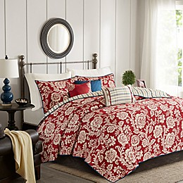 Madison Park Lucy Reversible Coverlet Set in Red