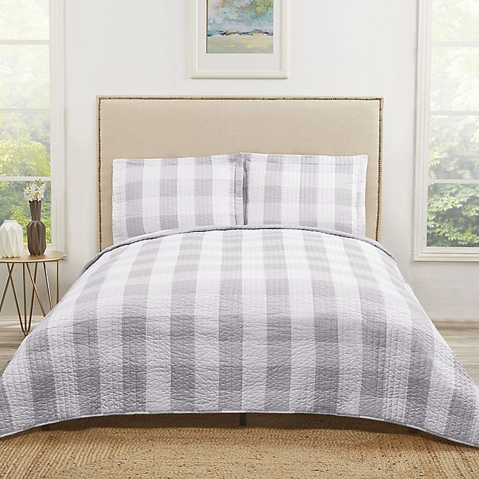 Alternate image 1 for Truly Soft Buffalo Plaid Quilt Set