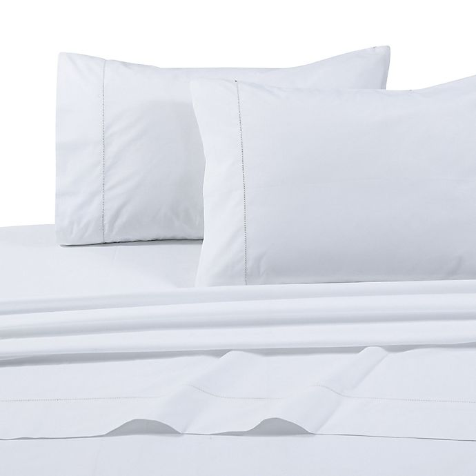 Alternate image 1 for Tribeca Living Solid 500-Thread-Count Extra Deep Pocket King Sheet Set in White
