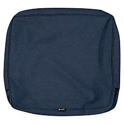 Classic Accessories Montlake 21-Inch x 20-Inch Lounge Back Cushion Slip Cover in Heather Blue