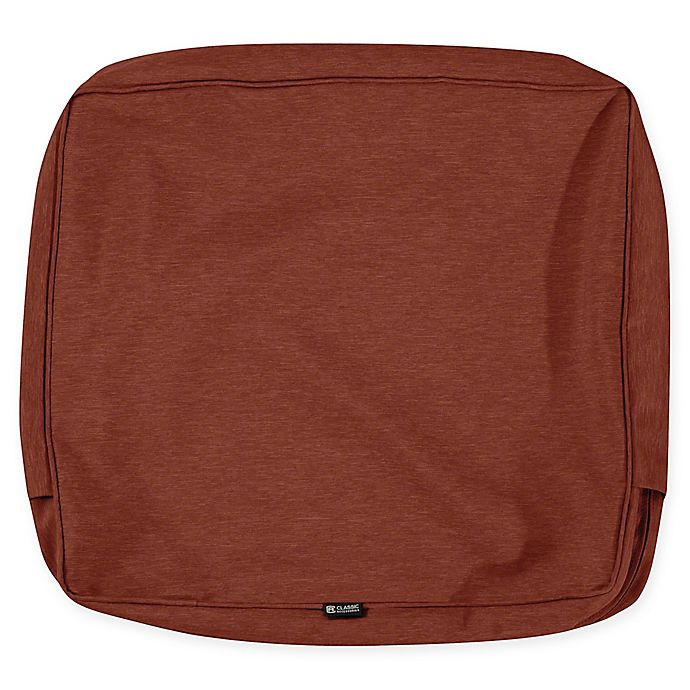 Alternate image 1 for Classic Accessories Montlake 25-Inch x 22-Inch Lounge Back Cushion Slip Cover in Heather Red