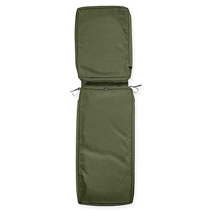 Alternate image 1 for Classic Accessories® Montlake™ Chaise Lounge Cushion Slip Cover in Fern Green