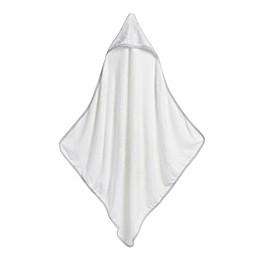 Storksak® Garden Hooded Towel and Washcloth Set in White/Grey