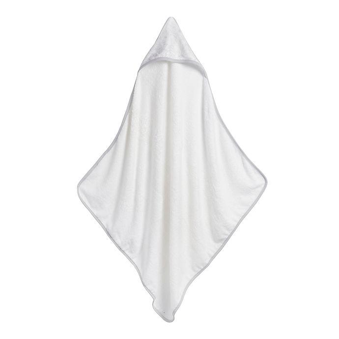 Alternate image 1 for Storksak® Garden Hooded Towel and Washcloth Set in White/Grey