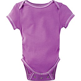 Posheez Snap'n Grow Solid Color Short Sleeve Bodysuit in Purple