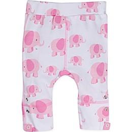 Posheez Snap'n Grow Elephant Print Adjustable/Expandable Pant in Pink