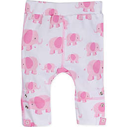 Posheez Snap'n Grow Elephant Print Adjustable/Expandable Pant in Pink