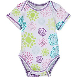 Posheez Snap'n Grow Solid Color Short Sleeve Bodysuit in Color Burst