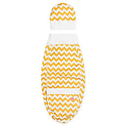 Cozy Cocoon® Size 3-6M Chevron Swaddle and Hat Set in Yellow