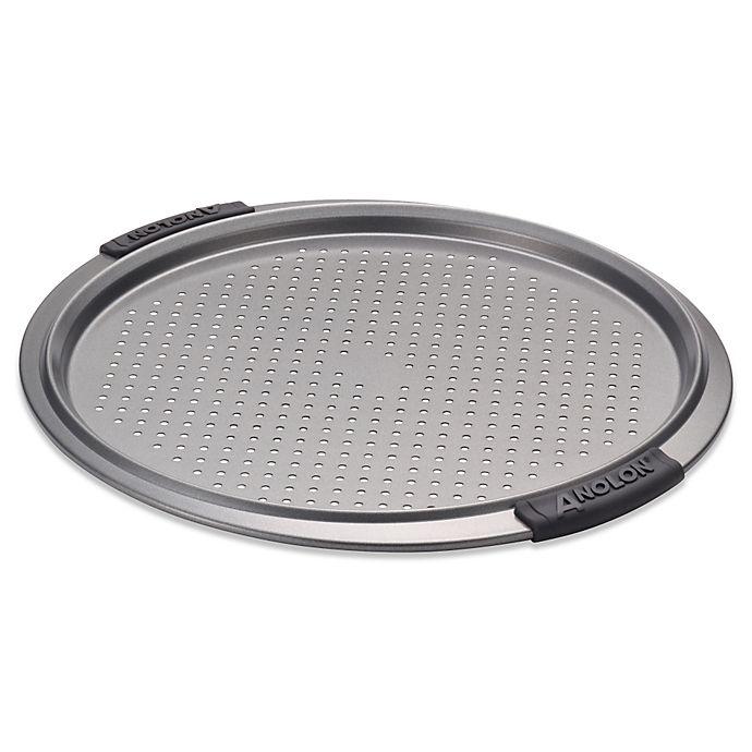Alternate image 1 for Anolon® Advanced Nonstick 13-Inch Pizza Crisper Pan
