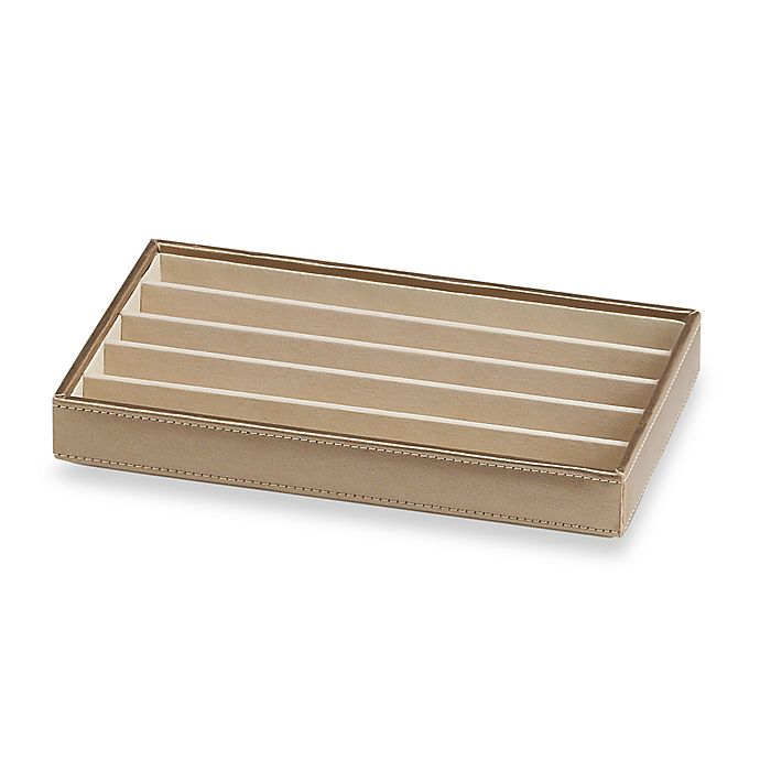 Alternate image 1 for Ampersand® Small 5-Compartment Stackable Jewelry Tray in Gold