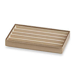 Ampersand® Small 5-Compartment Stackable Jewelry Tray in Gold