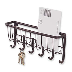InterDesign® Wall Mount Mail & Key Rack in Bronze