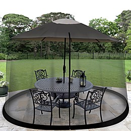 Jobar Umbrella Table Screen in Black