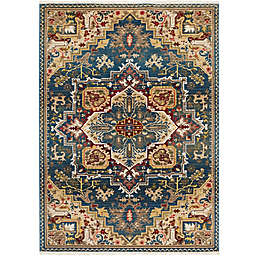 "Nicole Miller Ridgefield Medallion 5'2"" x 7'2"" Area Rug in Blue"