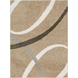 "Home Dynamix Synergy by Nicole Miller Abstract 9'2"" x 12'5"" Area Rug in Beige/White"