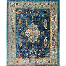 """Parlin by Nicole Miller Border 2'7"""" x 3'11"""" Accent Rug in Navy/Ivory"""