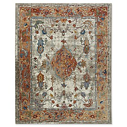 Parlin by Nicole Miller Border Area Rug in Ivory/Rust