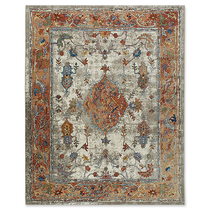 Alternate image 1 for Parlin by Nicole Miller Border Area Rug in Ivory/Rust
