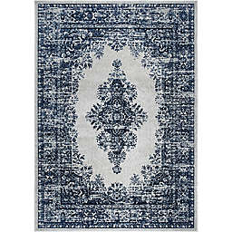 "Home Dynamix Vintage Distressed 7'9"" x 10'2"" Area Rug in Grey/Blue"