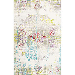 "Home Dynamix Boho Medallion 7'9"" x 10'2"" Area Rug in Ivory/Multi"