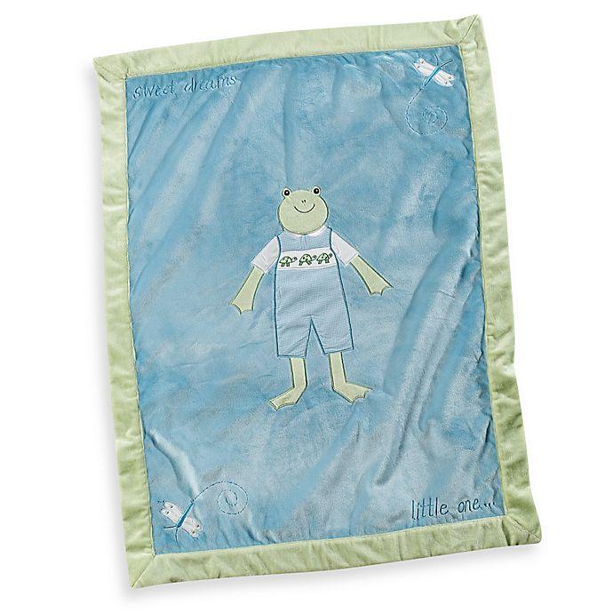 Alternate image 1 for Pickles® Hattie Boy Frog Blanket in Blue