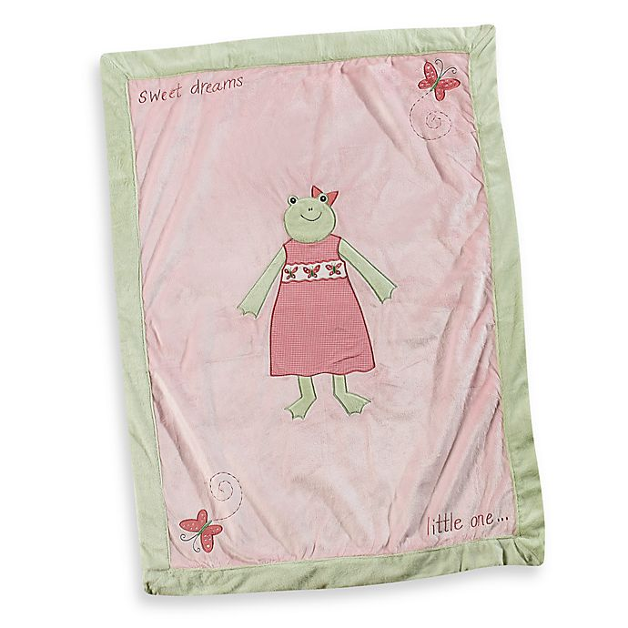 Alternate image 1 for Pickles® Hattie Girl Frog Blanket in Pink