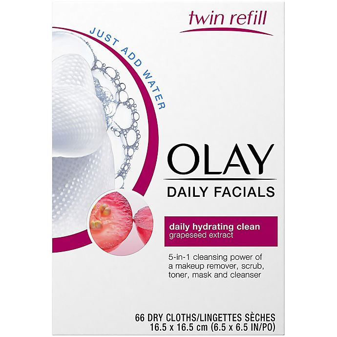 Alternate image 1 for Olay® 66-Count Daily Facials Daily Hydrating Clean Cleansing Cloths