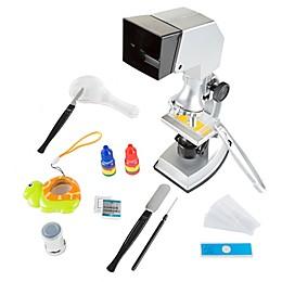 Hey! Play! 18-Piece Kids Microscope Set