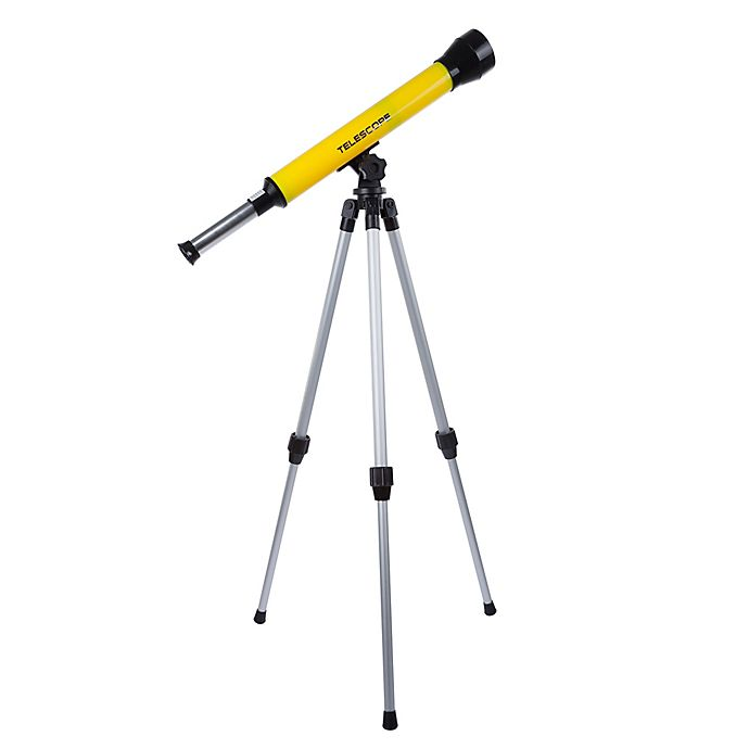 Alternate image 1 for Hey! Play! 28-Inch Kids Telescope with Tripod in Yellow