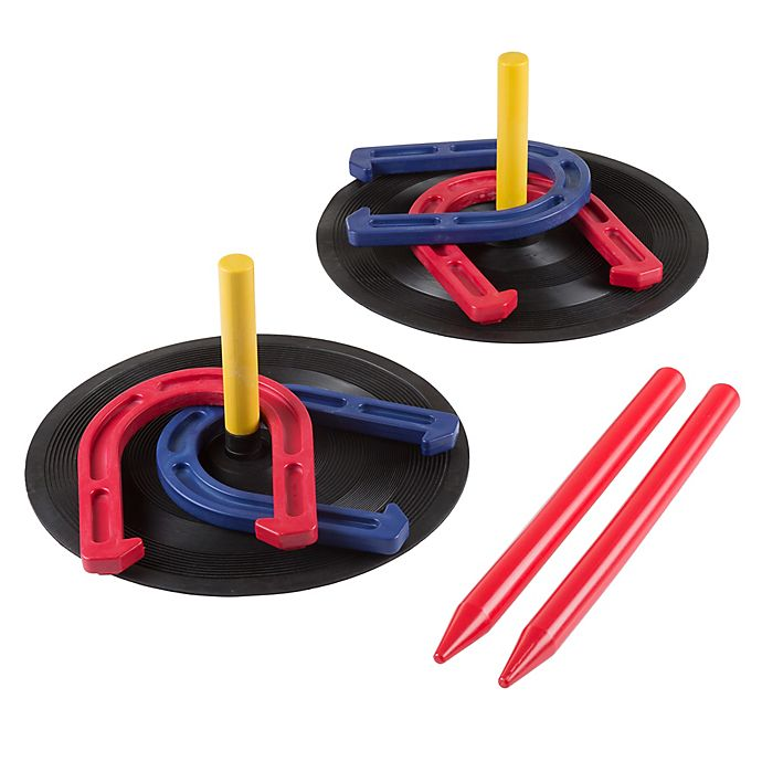 Alternate image 1 for Hey! Play! Rubber Horseshoes Game Set