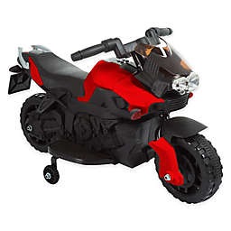 Lil' Rider Battery-Operated Ride-On 2-Wheel Motorcycle with Training Wheels in Red