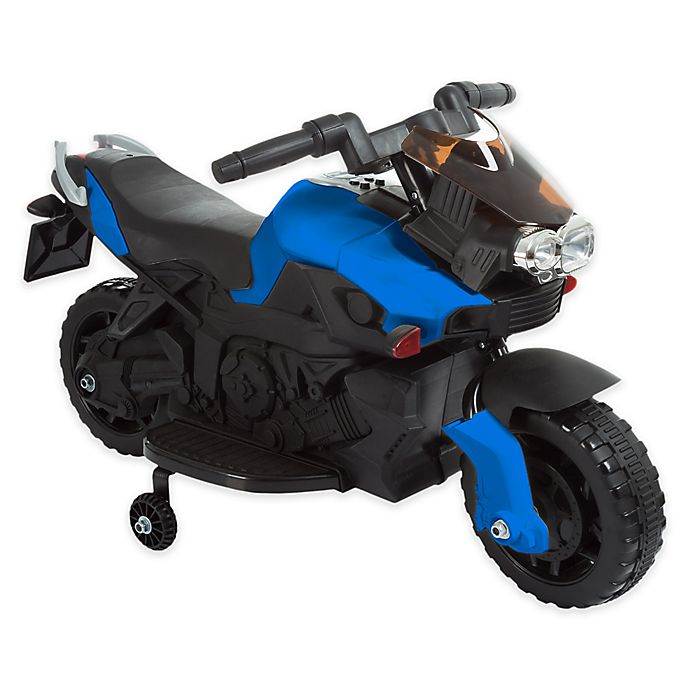 Alternate image 1 for Lil' Rider Battery-Operated Ride-On 2-Wheel Motorcycle with Training Wheels