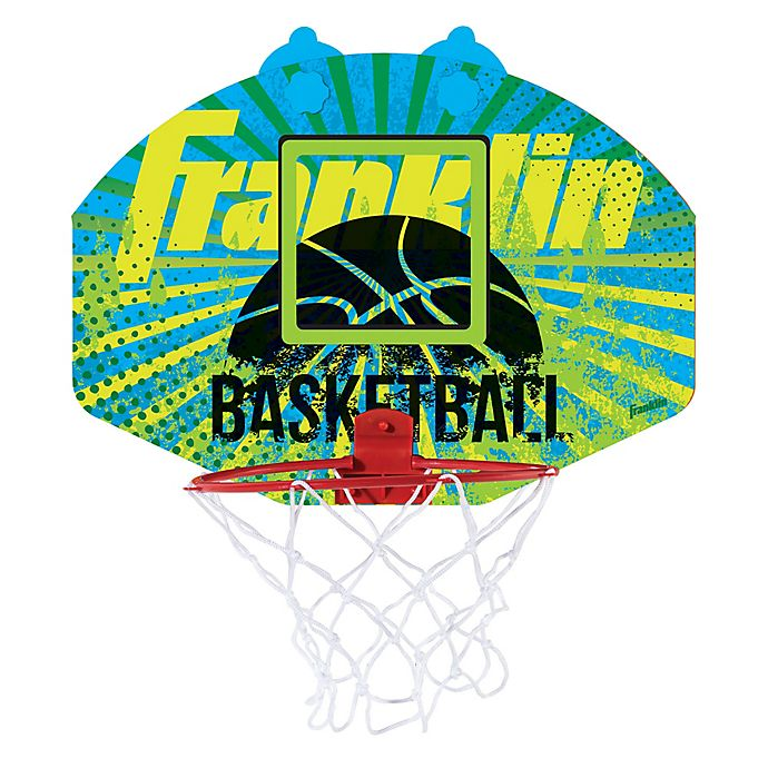 Alternate image 1 for Franklin® Sports Quikset Anywhere Basketball Hoop in Yellow/Blue