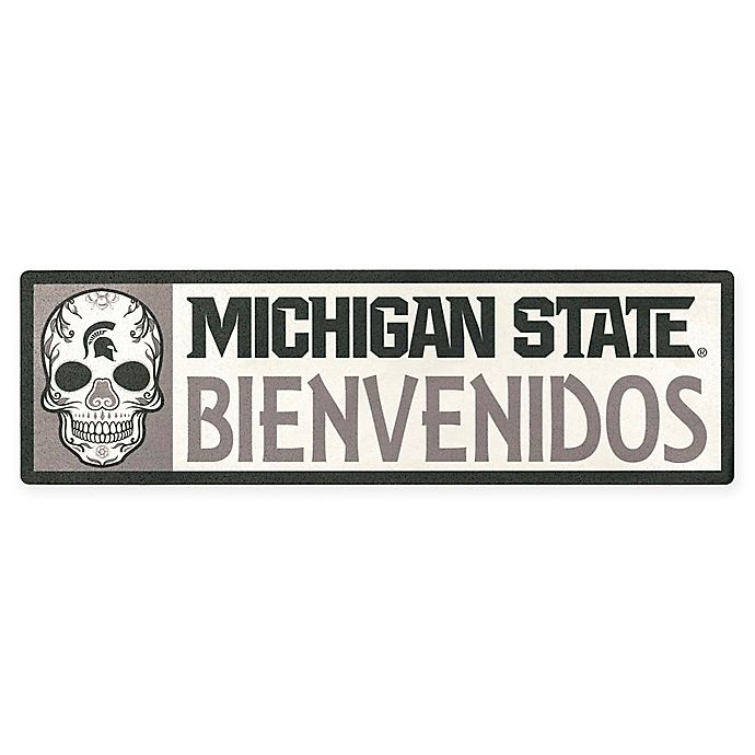 Alternate image 1 for Michigan State University Bienvenidos Outdoor Step Graphic Decal