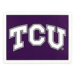 Texas Christian University Outdoor Curb Address Logo Decal