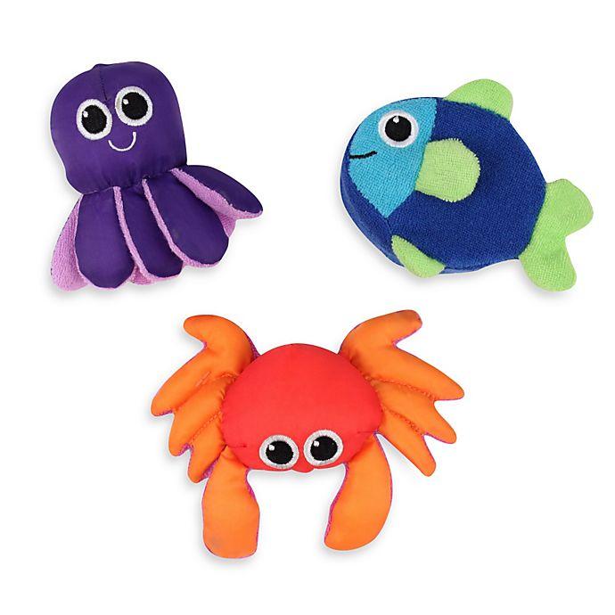 Alternate image 1 for Sassy® Soft Swimmers Bath Toys