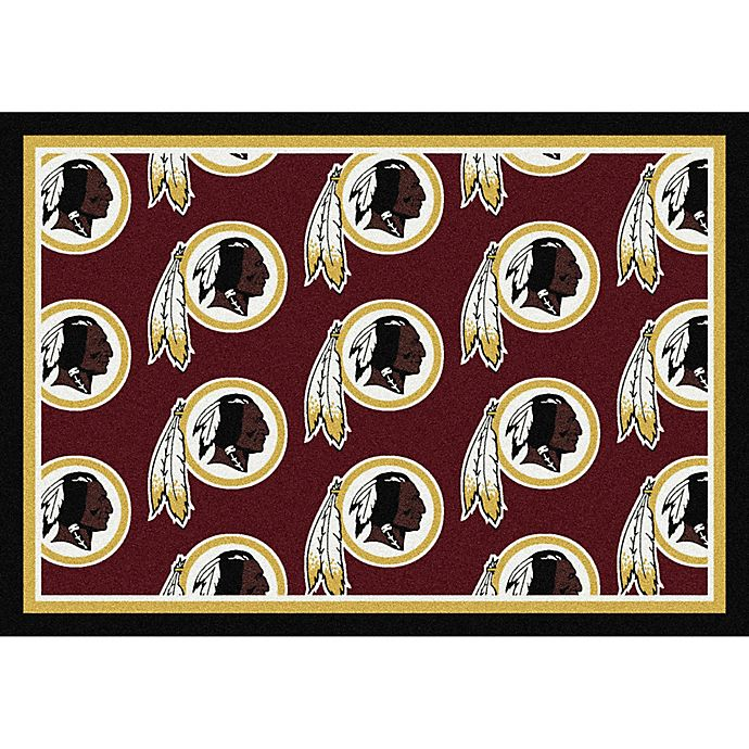 Nfl Area Rugs: Buy NFL Washington Redskins Repeating Large Area Rug From