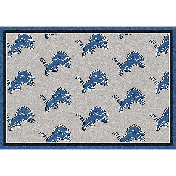 NFL Detroit Lions Repeating Area Rug