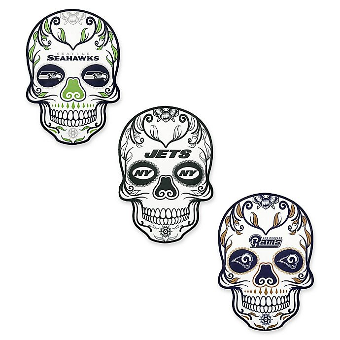 00efa20a NFL Outdoor Dia De Los Muertos Skull Decal | Bed Bath & Beyond
