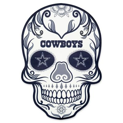 Nfl Dallas Cowboys Outdoor Dia De Los Muertos Skull Decal