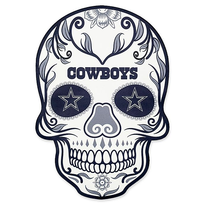 8bb210b9 NFL Dallas Cowboys Outdoor Dia De Los Muertos Skull Decal | Bed Bath ...